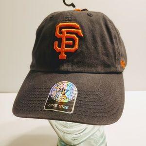 SF Giants 47 Brand Black Orange Baseball Hat Cap